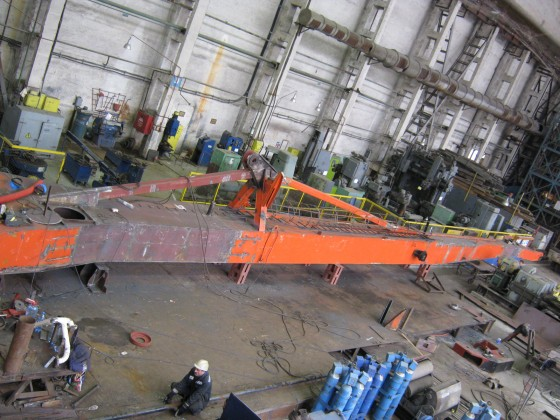 Quality control of welding works after overhaul repair of the boom steel structure of the floating crane