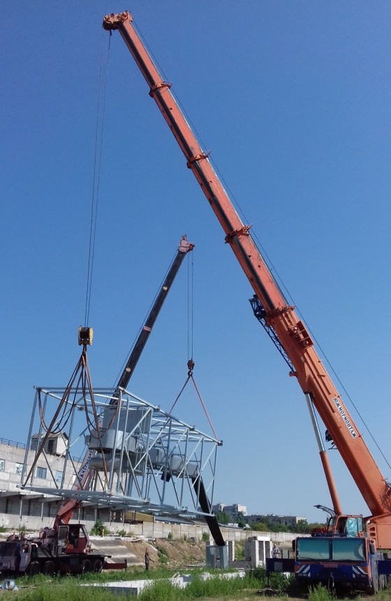 Installation of conveyor equipment at PJSC Dneprovsky Terminal