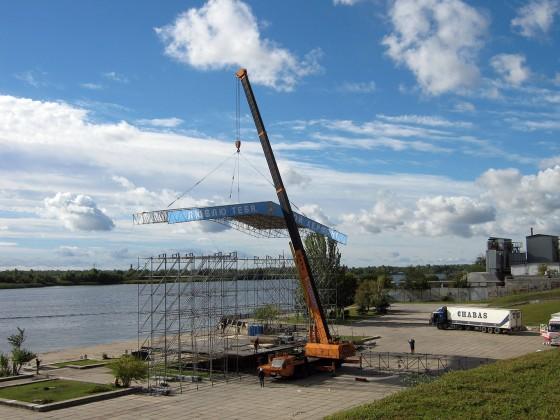 Комплекс работ по установке катера весом 40 т на зимовку, г. Херсон (копия) (копия)