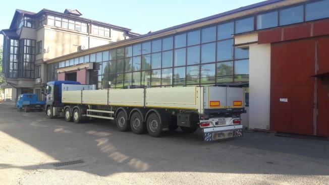 Сидельный тягач МАН с полуприцепом, грузоподъемность до 23 тонн