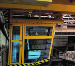Operating cabins for cranes